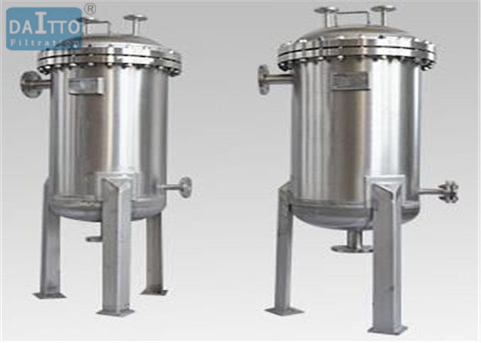 Large Flow Industrial Filter Housing Multi Cartridges Mirror Surface Finish