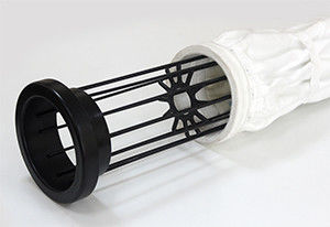 Mild / Stainless Steel Filter Bag Cage With 12 / 16 Wires Silicon Coating